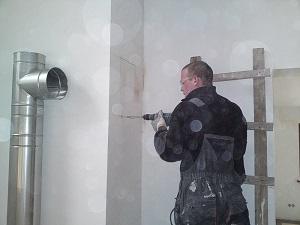 Монтаж металлического дымохода