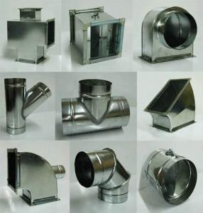 Оцинкованные фасонные части для воздуховода