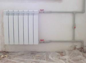 Прокладка труб для отопления