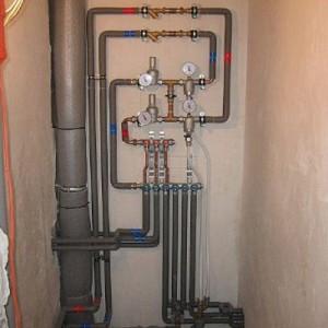 Пример разводки труб для водоснабжения