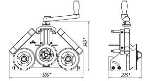Схема - устройство трубогиба