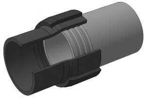 Пример неразъемного соединения труб