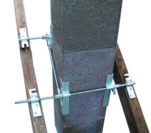 Метод крепления керамической каминной трубы