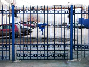 Декоративный забор из профильной трубы