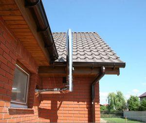 Установленный дымоход для газового котла