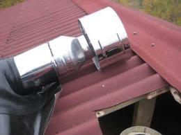 Проход трубы через крышу