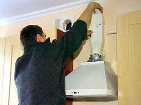 Установка вытяжной трубы в квартире