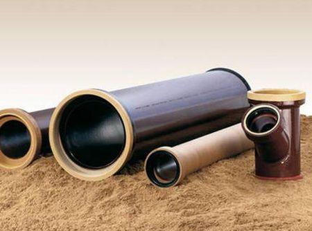 Виды керамических труб канализации