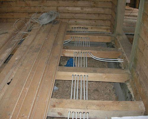 Прокладка коммуникаций отопления в полу