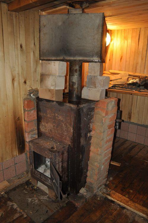 Сварить железную печь для бани