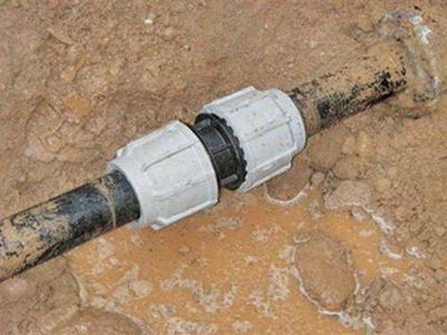 Водопровод из труб пнд
