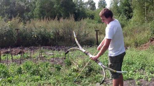 Сделать лук для охоты своими руками