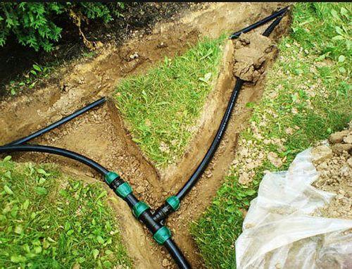 Заглубленный водопровод летнего водоснабжения