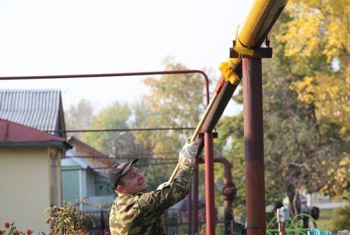 Покраска газовой трубы