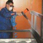 Покраска металлоконструкции из труб