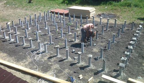 Монтаж труб в почве