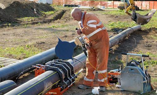 Монтаж пластиковой газовой трубы