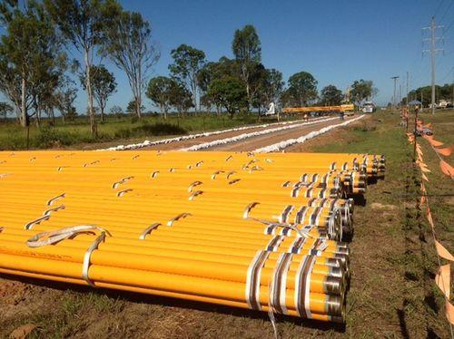 Трубы газового трубопровода