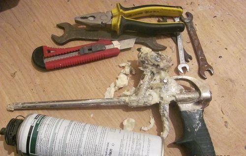 Разборка пистолета для механической очистки