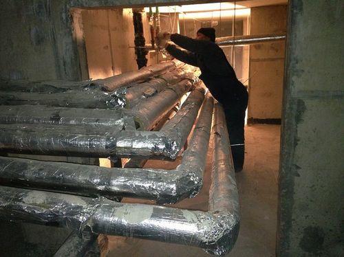 Утепление труб в подвале